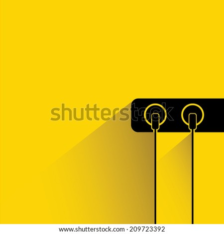 electric plug, cable plug - stock vector