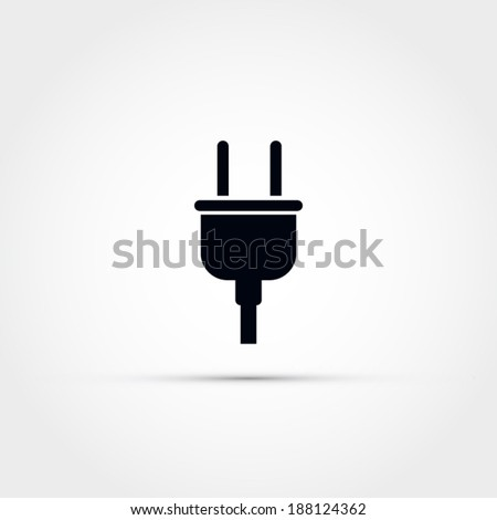 Electric plug icon - stock vector