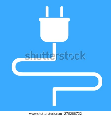 Electric plug icon,vector illustration - stock vector