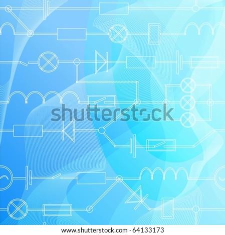 electric circuit diagram stock photos images pictures. Black Bedroom Furniture Sets. Home Design Ideas