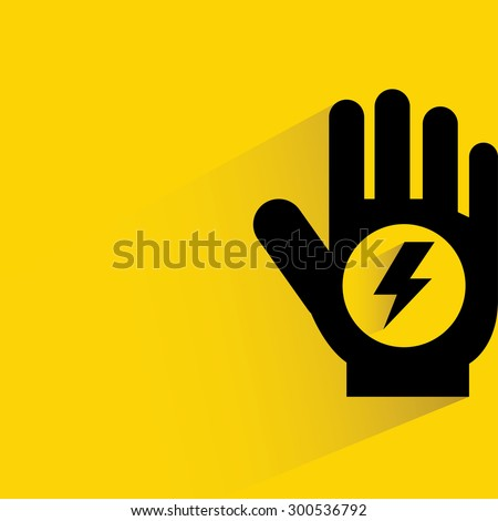 electric shock risk sign - stock vector