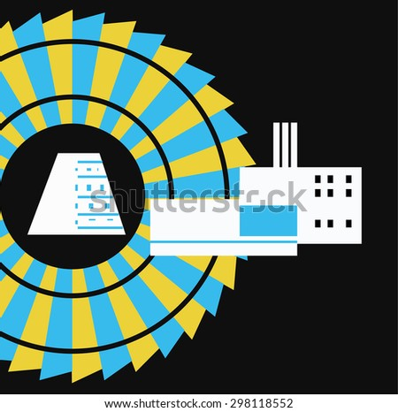 Electric Station. Illustration Energy Industry - stock vector