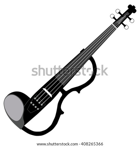 electric violin - stock vector