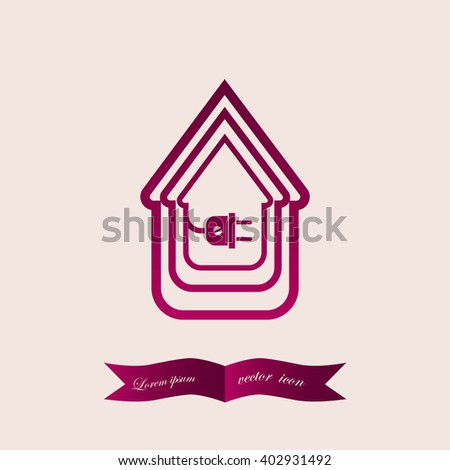 Electric Wire Plug Showing House Stock Vector HD (Royalty Free ...