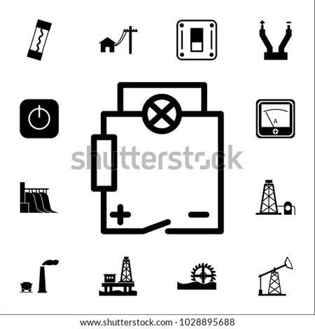 Electrical Circuit Icon Set Energy Icons Stock Vector 2018