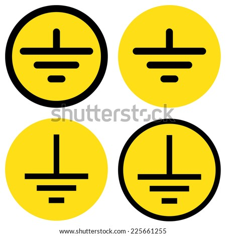Electrical Grounding Signs Eps 10 Stock Vector (2018) 225661255 ...