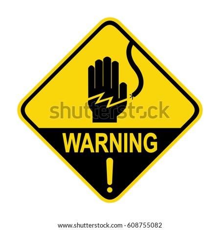 Electrical Hazard Warning Sign Symbol Illustration Stock Vector