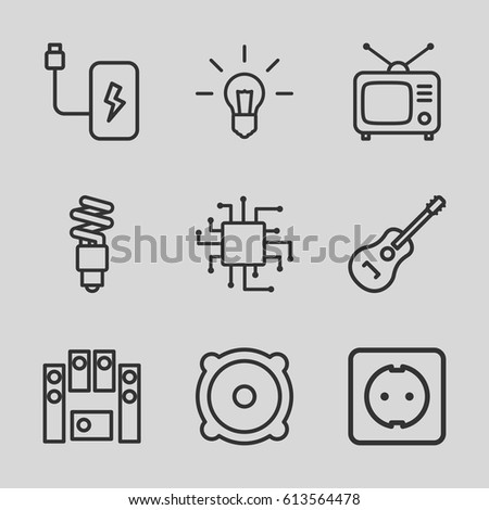 Electrical Icons Set Set 9 Electrical Stock Vector Hd Royalty Free