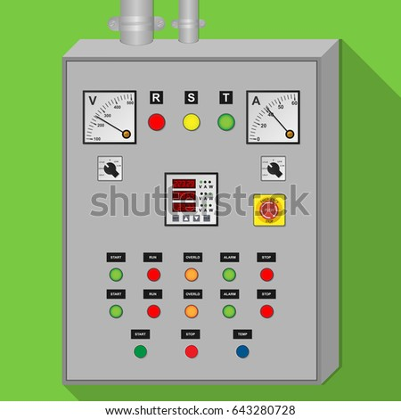 Electrical Panel Cabinet Industrial Stock-Vektorgrafik 643280728 ...