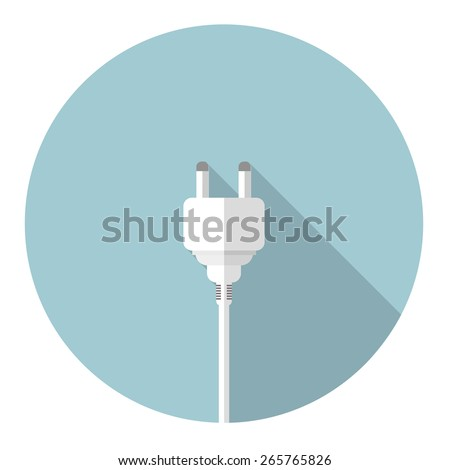 electrical plug flat icon. vector illustration - stock vector