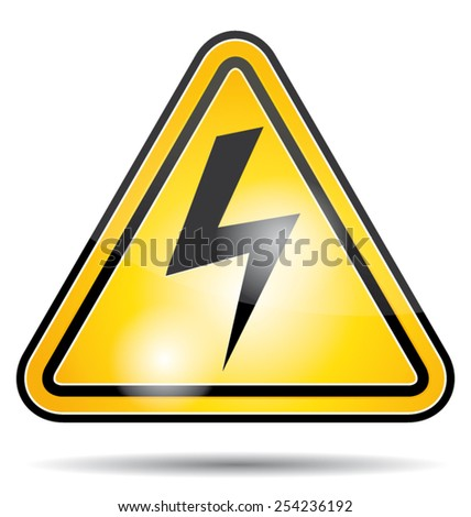 Electrical power danger vector icon. - stock vector