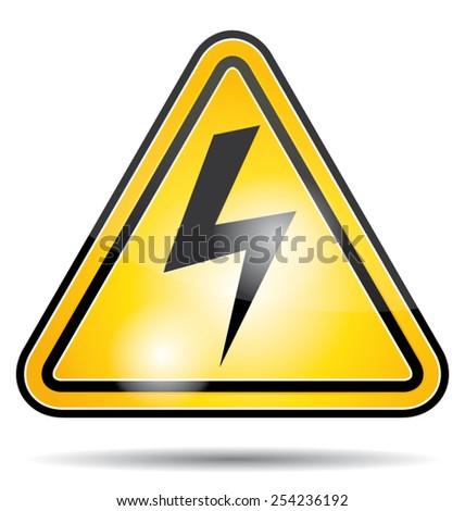 Electrical power danger vector icon. - stock vector
