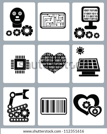 Electrician and engineer icons set ,Vector - stock vector