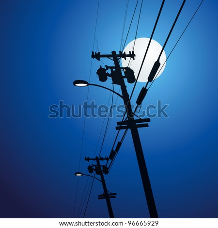 Electricity post vector - stock vector