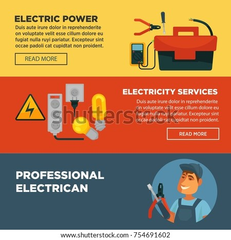 electrician profession infographics poster template electric stock vector 581194693 shutterstock. Black Bedroom Furniture Sets. Home Design Ideas