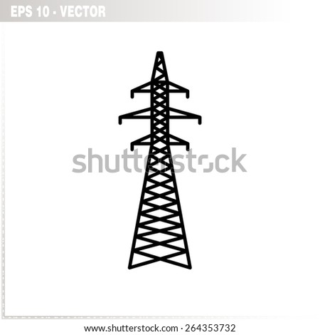 electricity tower icon - stock vector