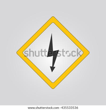 electricity warning sign. warning sign. warning icon - stock vector