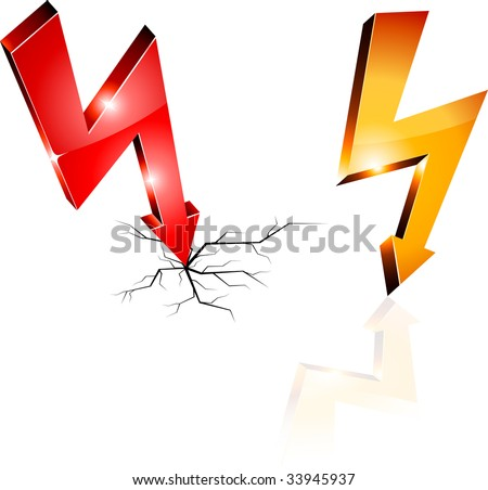 Electricity warning symbols. Vector illustration.