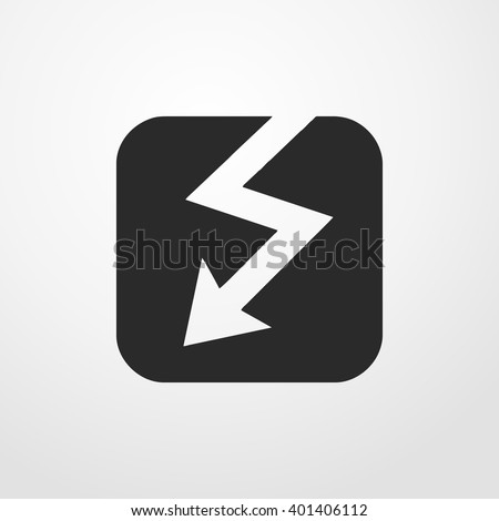 electro devices icon. voltage sign - stock vector