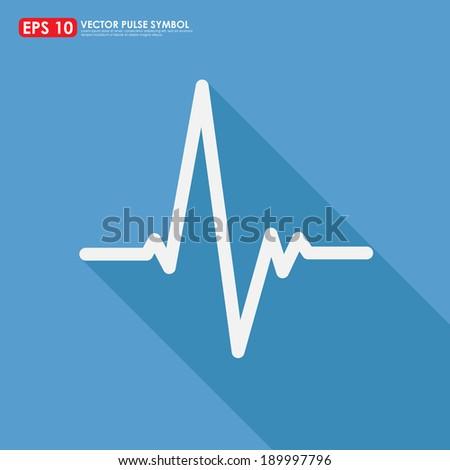 Electrocardiogram, ecg or ekg - medical icon - stock vector