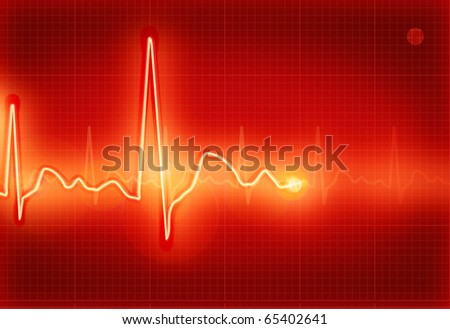 Electrocardiogram, eps10 - stock vector
