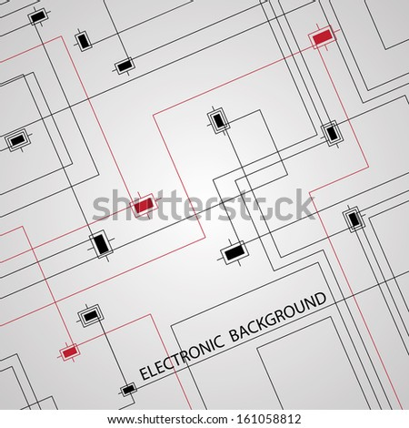 Electronic and Communication Background. Vector illustration.