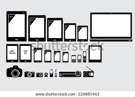 Electronic appliances. - stock vector