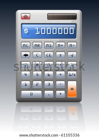 Electronic calculator, vector illustration - stock vector