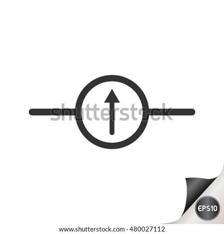 Electronic Circuit Symbols Galvanometer Stock Vector 480027112 ...