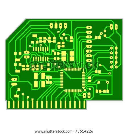 Electronic circuit, Vector EPS version 8 - stock vector