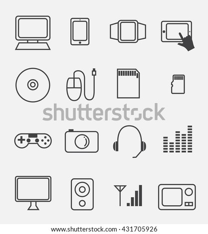 electronic device and household icon set
