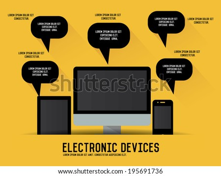 Electronic device concept - stock vector