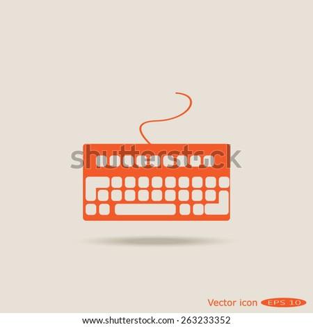 electronic keyboard - stock vector