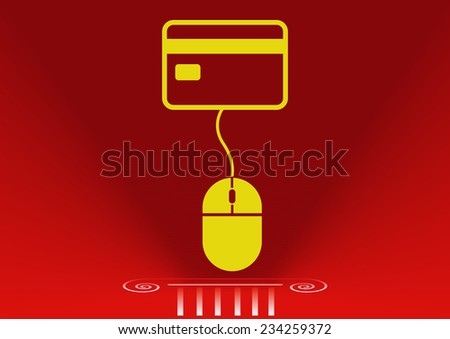 electronic money icon - stock vector