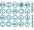 Electronic Multimedia stuff icon set - stock vector