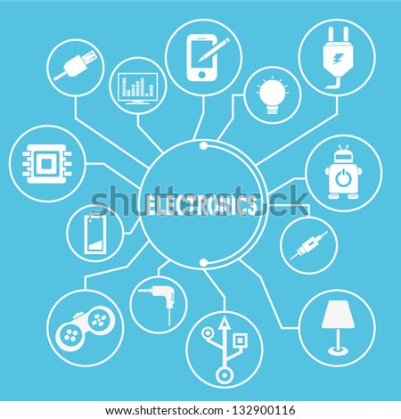 electronic network template, electronic info graphics