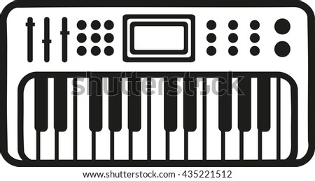 Electronic Piano Keyboard Icon