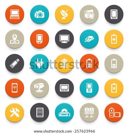 Electronics icons. - stock vector