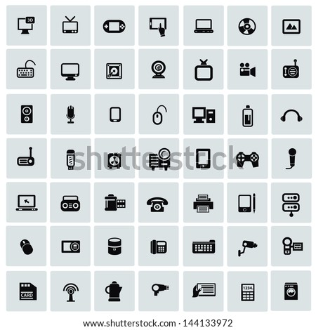 Electronics icons for web,vector - stock vector