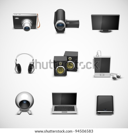 electronics vector icon set