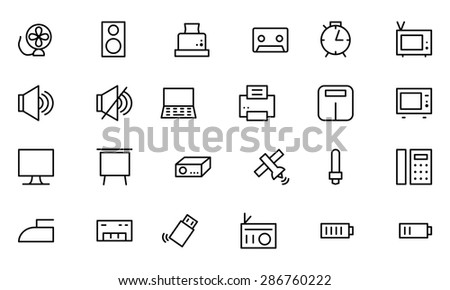 Electronics Vector Line Icons 2