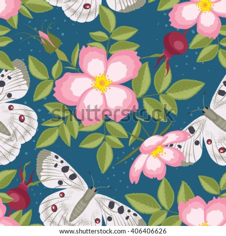 Elegance Colorful texture for decorating background. Seamless pattern with of flowers. Floral vector illustration - stock vector