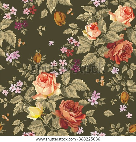 Elegance Colorful texture for decorating pattern. Seamless background with of flowers