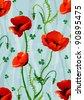 Elegance floral pattern - stock vector