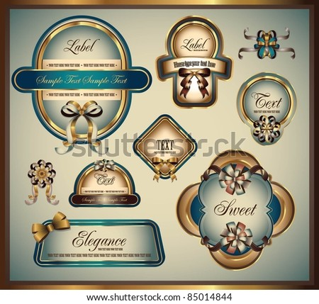 elegance label collection - stock vector
