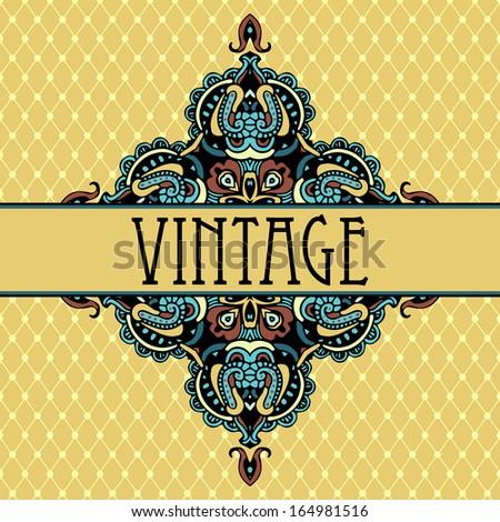 Elegance luxury vintage vignette vector background - stock vector
