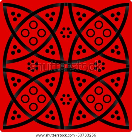 Elegance pattern in red and black colors