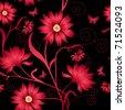 Elegance Seamless color pattern on background, vector illustration - stock vector