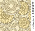 Elegance Seamless pattern, vector ornament illustration in vintage style - stock photo