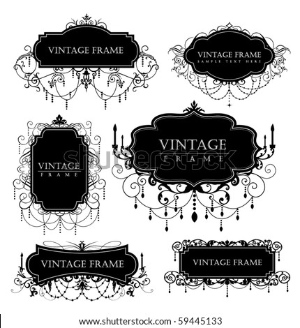 elegance vintage frames for your text - stock vector